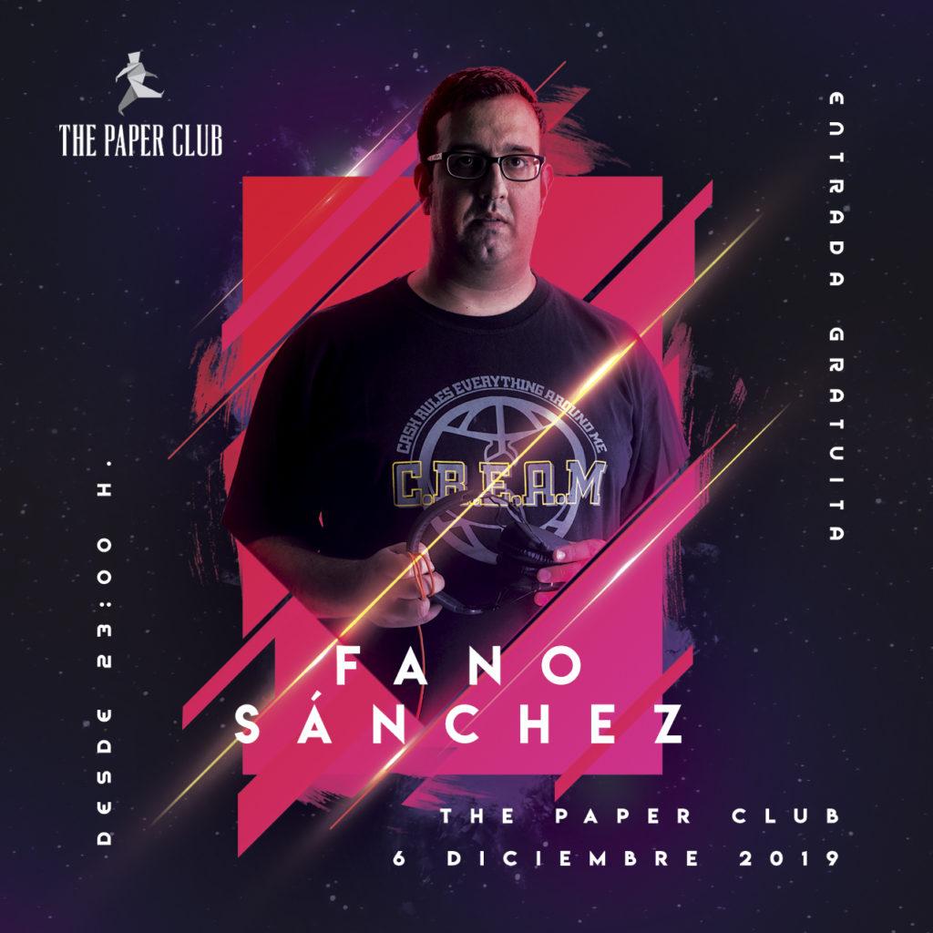 Cartel-Instagram-Fano-Sánchez-The-Paper-Club-6-Diciembre-2019