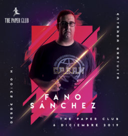 Cartel-Instagram-Fano-Sánchez-The-Paper-Club-6-Diciembre-2019