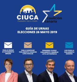 Voto Coalición Canaria CIUCA Mogán Mayo 2019